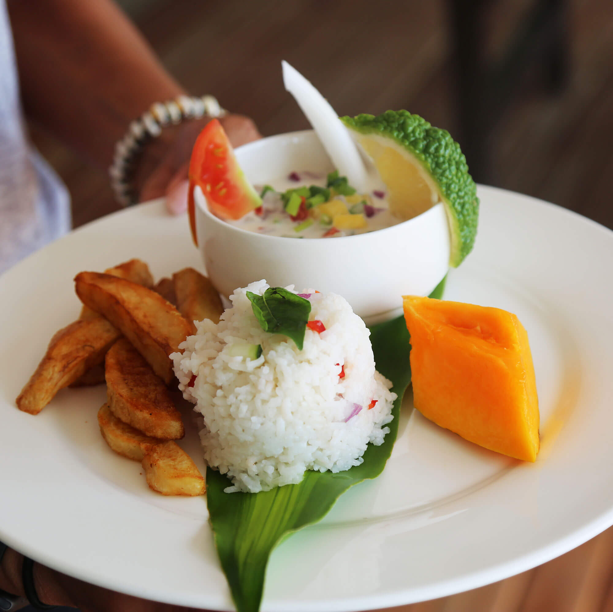 Fresh food served daily from Oarsman's Bay Lodge