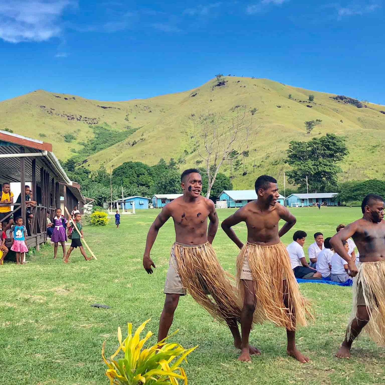 Nacula Island village school dance Fiji